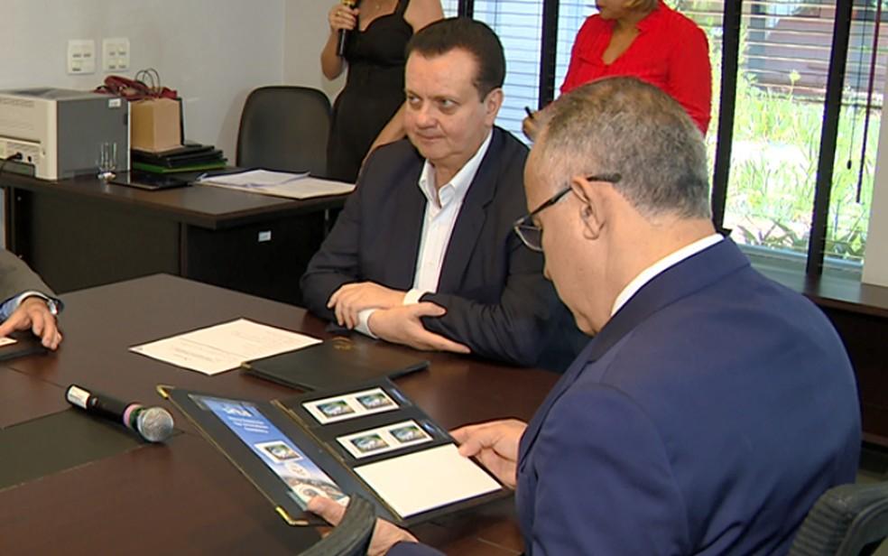 Ministro da Ciência e Tecnologia, Gilberto Kassab, esteve em evento no CNPEM, em Campinas; ele é investigado pela Polícia Federal. — Foto: Toni Mendes/EPTV