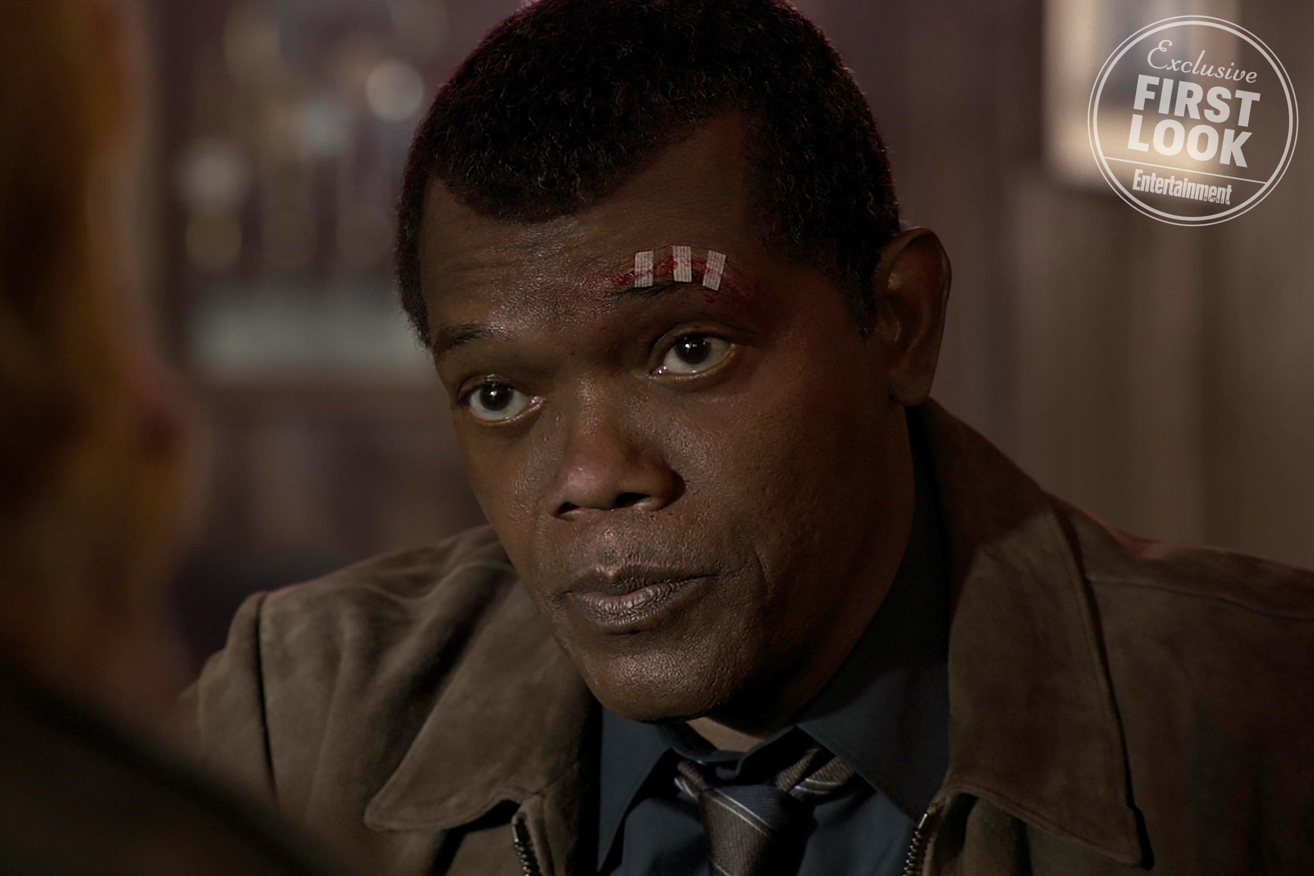 Samuel L. Jackson como Nick Fury em Capitã Marvel (Foto: Reprodução/EW)