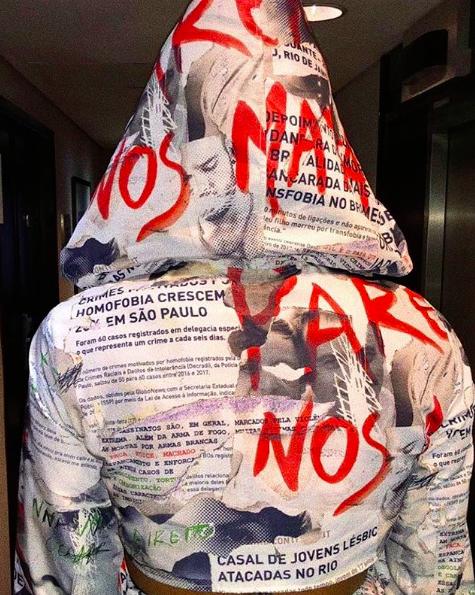 Look de Pabllo Vittar para a parada Gay de São Paulo (Foto: Reprodução Instagram)