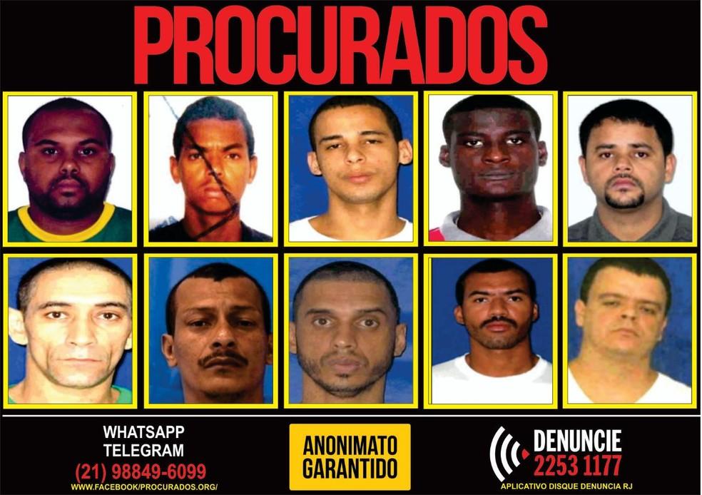 Cartaz do Disque Denúncia pede informações sobre criminosos procurados (Foto: Reprodução/ Disque Denúncia)
