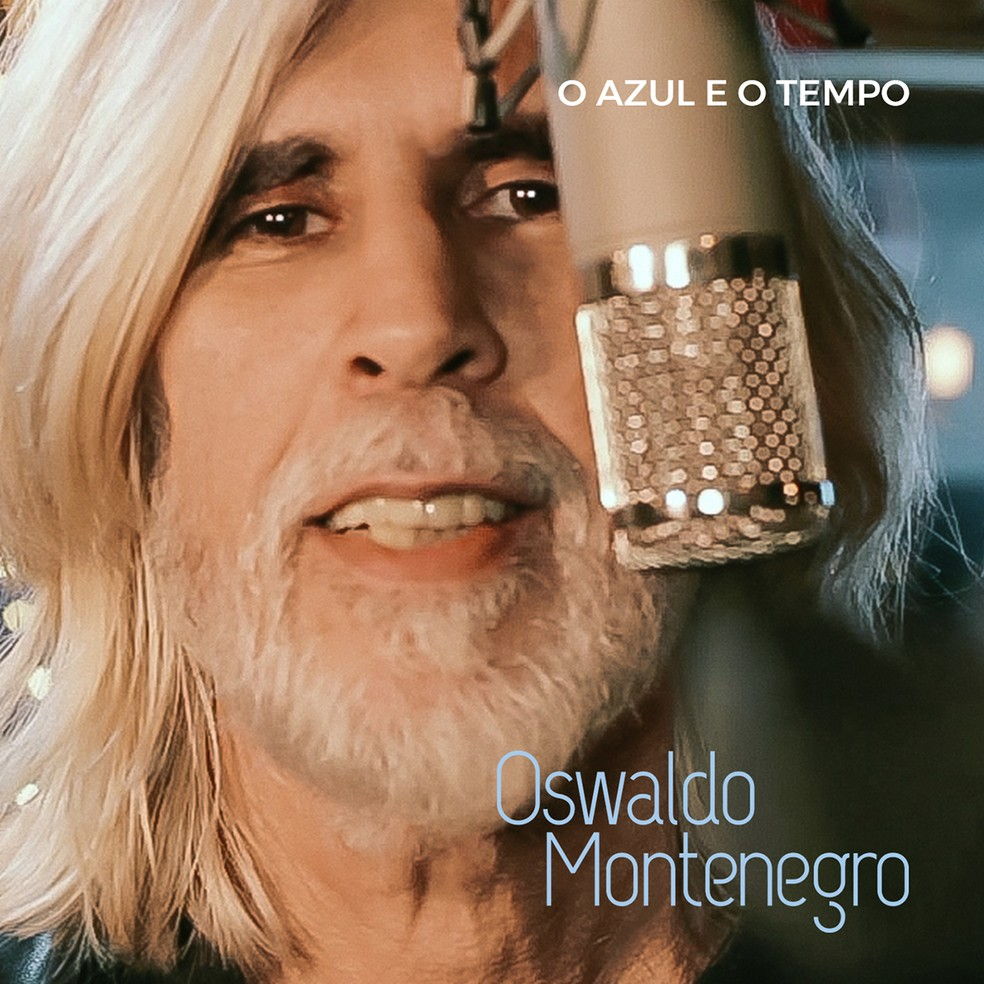 Capa do single 'O azul e o tempo', de Oswaldo Montenegro — Foto: Divulgação