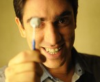 Marcelo Adnet posa pela primeira vez com o figurino de 'O dentista mascarado'   Renato Rocha Miranda/TV Globo
