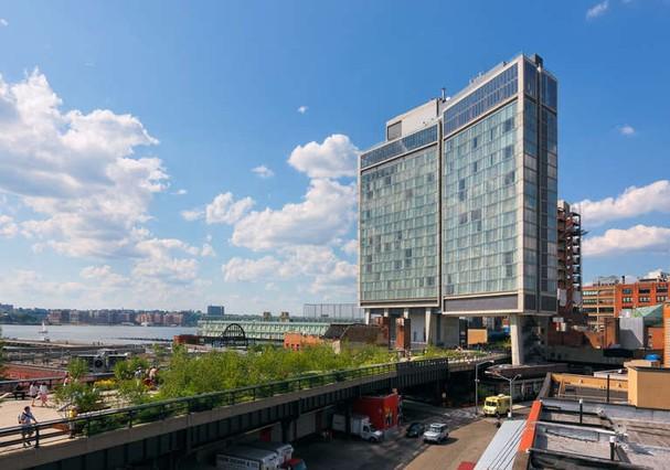 A fachada do The Standard, ente o High Line e a Costa  (Foto: Divulgação)