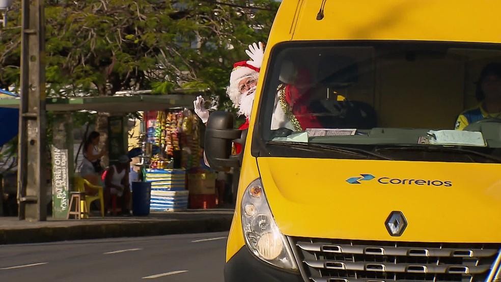 Campanha do Papai Noel dos Correios de 2020 teve mudanças devido à pandemia da Covid-19 — Foto: Reprodução/TV Globo