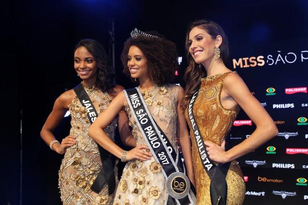 As três finalistas do Miss São Paulo (Foto: Deividi Correa / AgNews)
