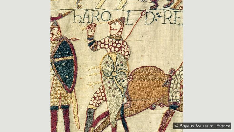 Tapeçaria de Bayeux — Foto: Bayeux Museum, França