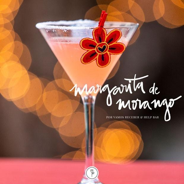 Margarita sabor morango: aprenda versão diferente do drink (Foto: Douglas Daniel)