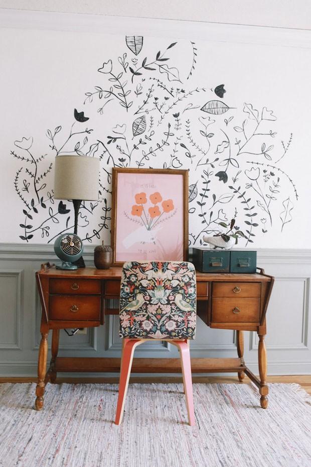 Décor do dia: Ideias para decorar um escritório pequeno (Foto: Reprodução)