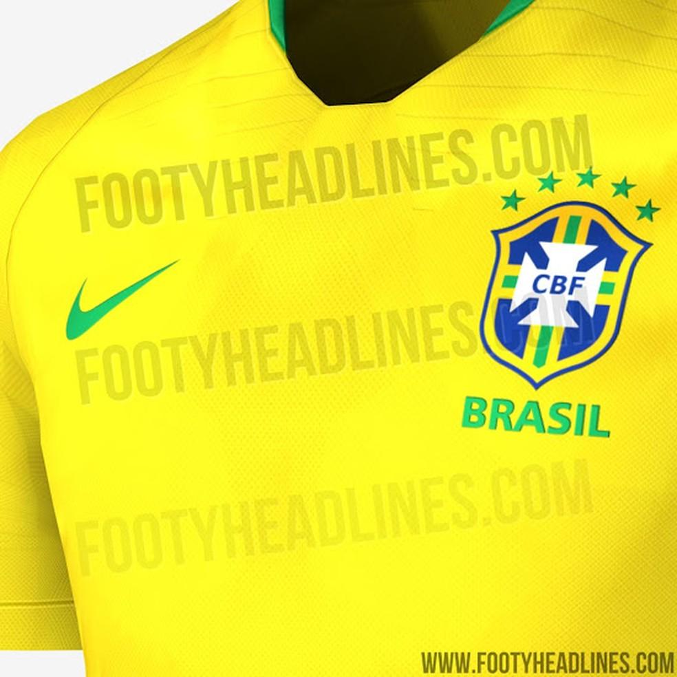 Site vaza suposta camisa que a seleção brasileira usará na Copa do ... 7fe8329ce1bed