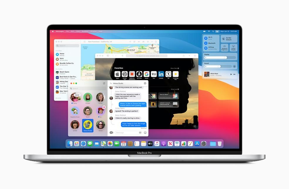 MacOS Big Sur vai ajudar na transição para os processadores da própria Apple — Foto: Divulgação/Apple