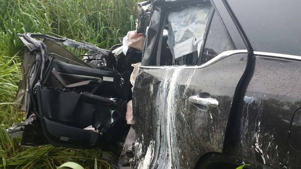 Vítima chegou a ser socorrida, mas morreu no hospital (Foto: CBM-MT)
