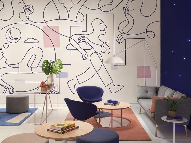 Lounge pós-soneca oferece café e ambiente relax para os clientes voltarem à ativa (Foto: Reprodução)