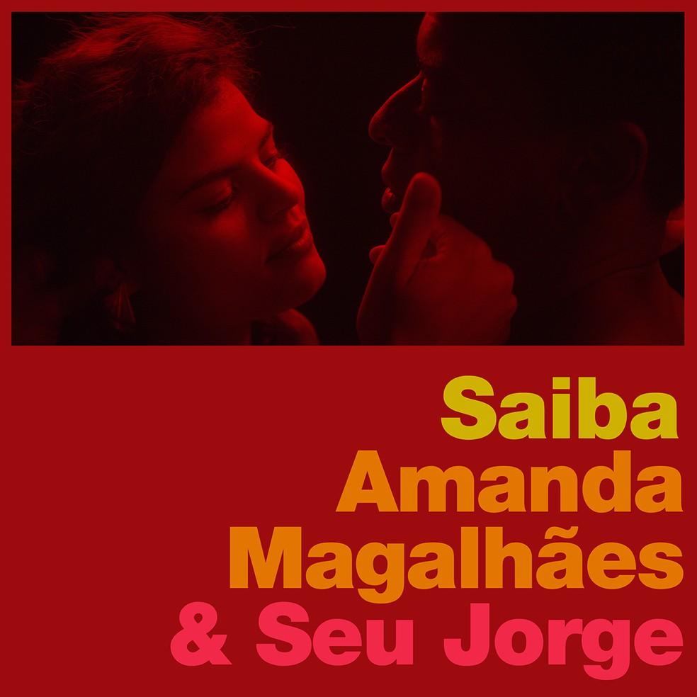 Capa do single 'Saiba', de Amanda Magalhães & Seu Jorge — Foto: Divulgação