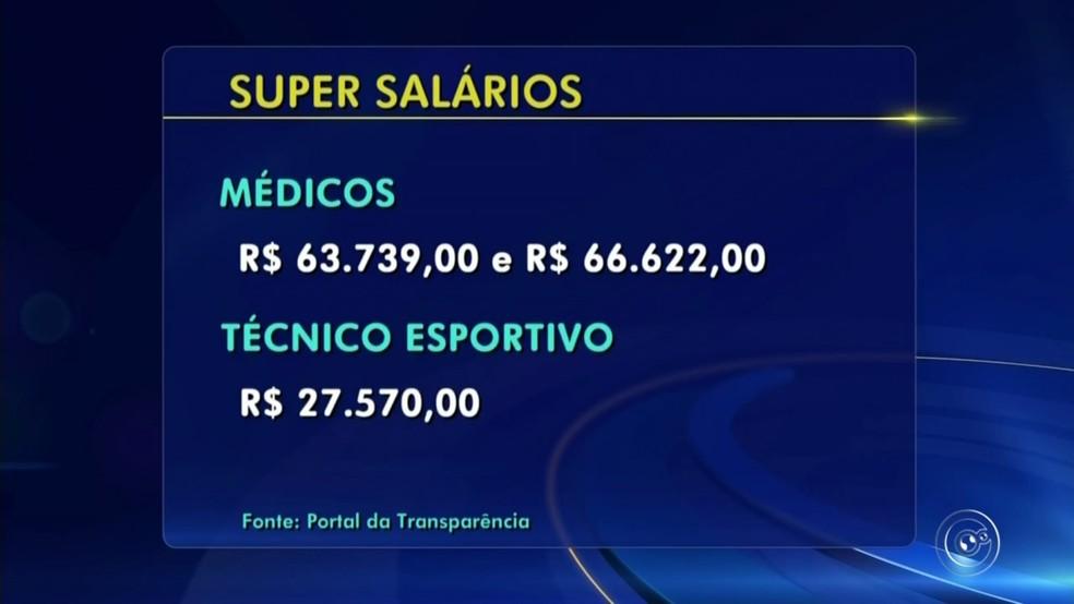 Dois médicos ganham cerca de R$ 60 mil (Foto: Reprodução/TV TEM)