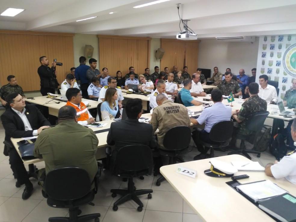 Forças armadas e Governo do Pará planejaram ações de enfrentamento a queimadas.   — Foto: Polícia Civil
