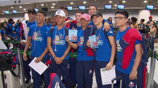 Pernambuco embarca para Jogos da Juventude com frevo e bonecos gigantes