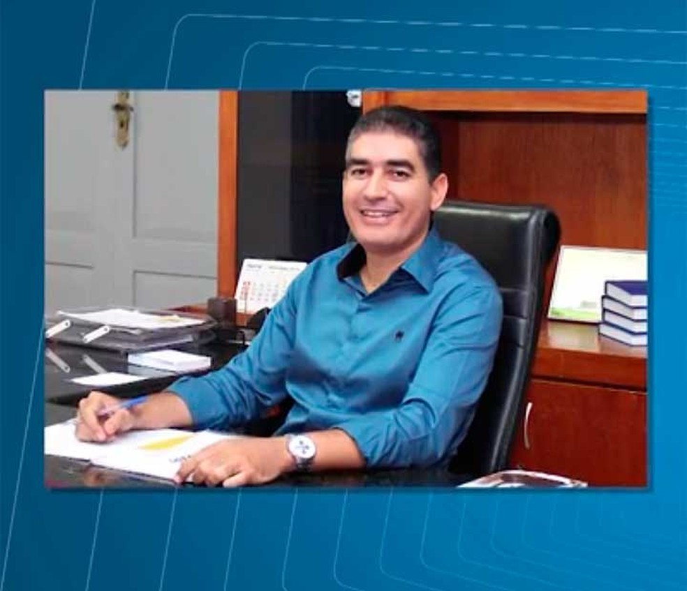 Everton Carvalho Rocha (PSDB), prefeito de Jaguarari que teve o mandato cassado (Foto: Reprodução/TV São Francisco)