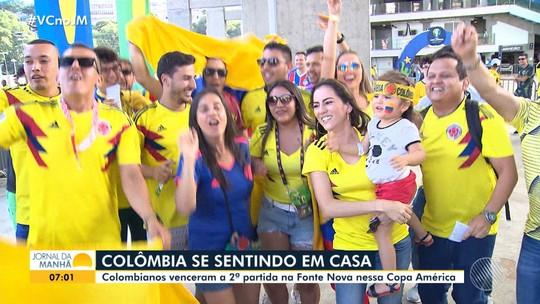 Copa América 2019: seleção Colômbia vence o Paraguai na Arena Fonte Nova
