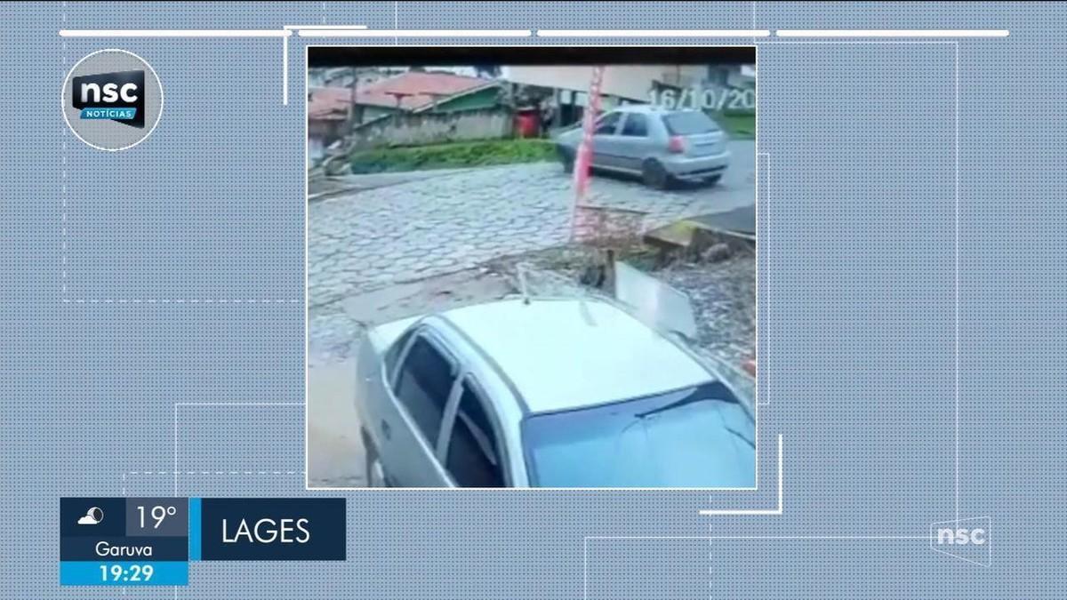 Vídeo mostra momento em que carro atropela criança em Lages