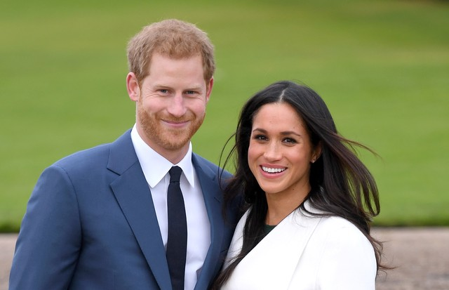 LONDON, ENGLAND - NOVEMBER 27:  Prince Harry and Meghan Markle attend an official photocall to announce their engagement at The Sunken Gardens at Kensington Palace on November 27, 2017 in London, England.  Prince Harry and Meghan Markle have been a couple (Foto: WireImage)