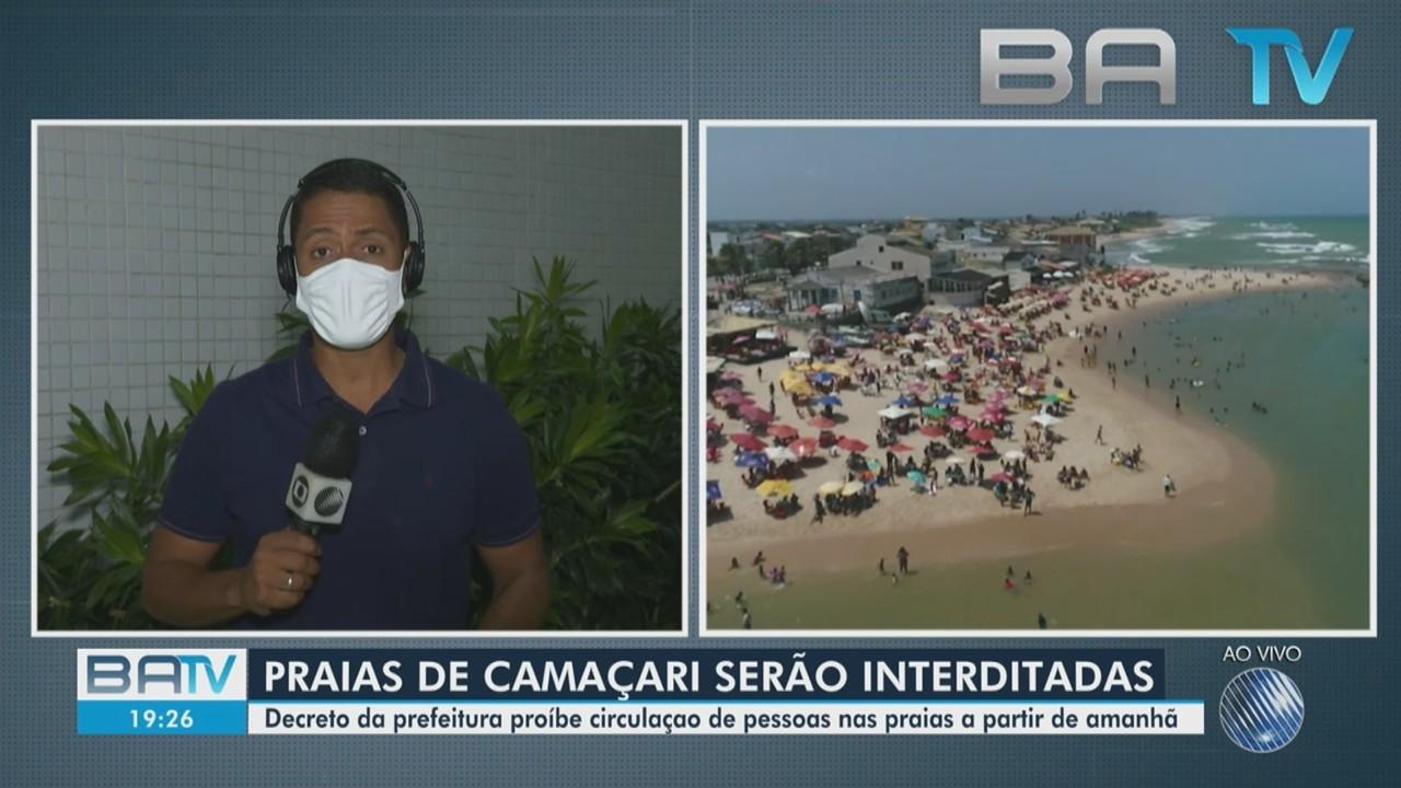 Praias começam a ser interditadas no município de Camaçari por causa da Covid-19