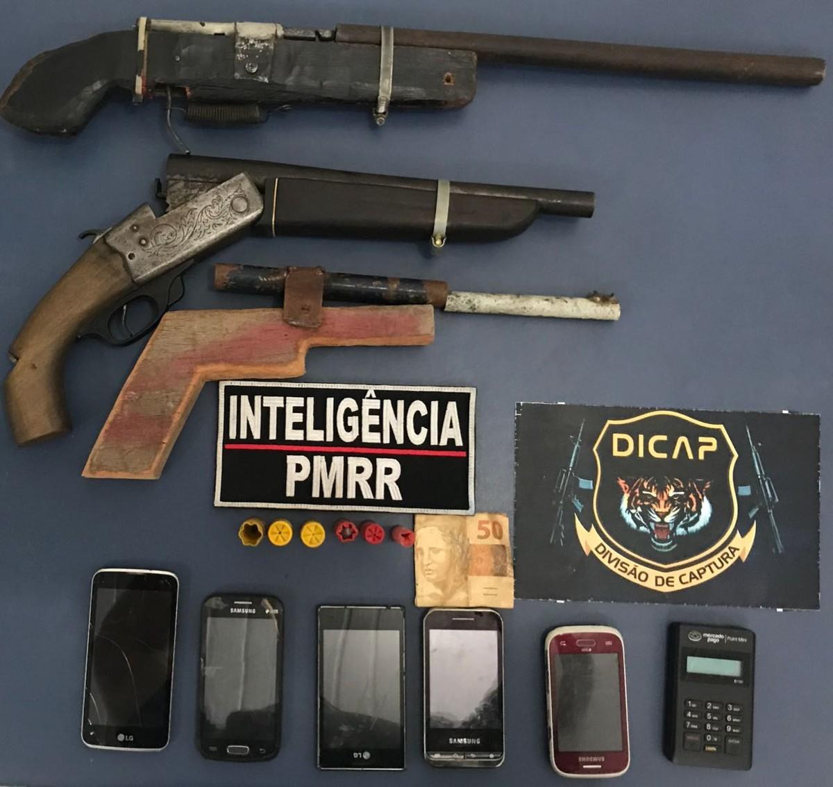 Três suspeitos de roubos são detidos com armas e munições em Boa Vista