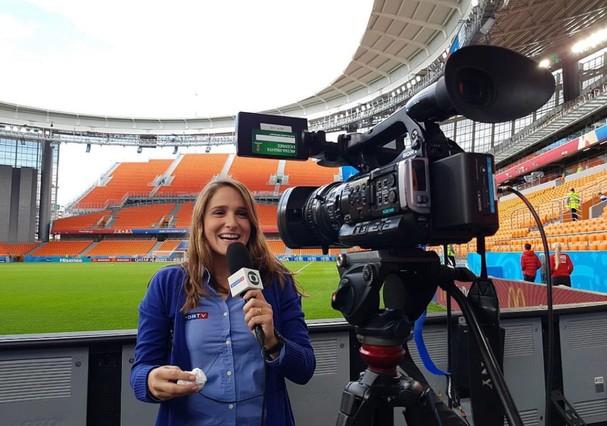 Repórter Júlia Guimarães (Foto: Reprodução)
