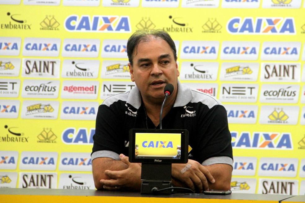O último clube de Nei Pandolfo foi o Criciúma — Foto: Caio Marcelo/Criciúma EC