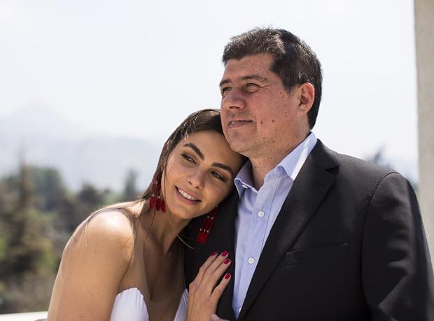 Letícia Datena e o noivo (Foto: Alfonso Gonzales)