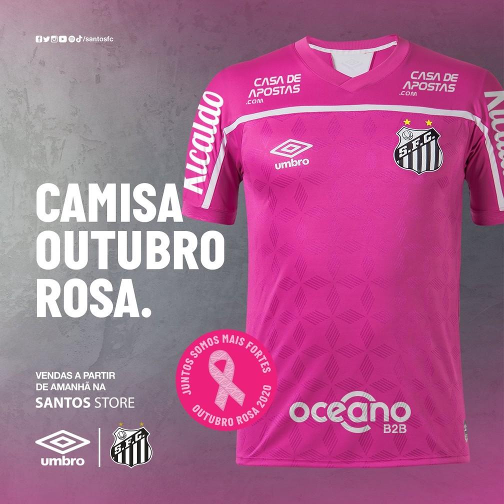Fotos Santos Lanca Camisa Rosa E Parte Do Lucro Ira Para Instituicao De Prevencao Ao Cancer De Mama Santos Ge