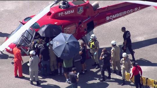 Morre um passageiro do helicóptero que caiu no Rio