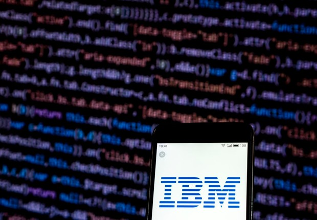 IBM (Foto: Igor Golovniov/SOPA Images/LightRocket via Getty Images)