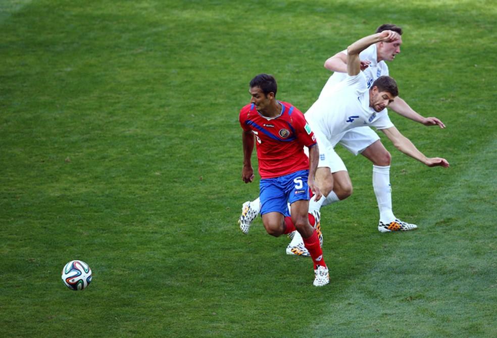 Costa Rica e Inglaterra empataram em 0 a 0 na Copa do Mundo de 2014 (Foto: Getty Images)