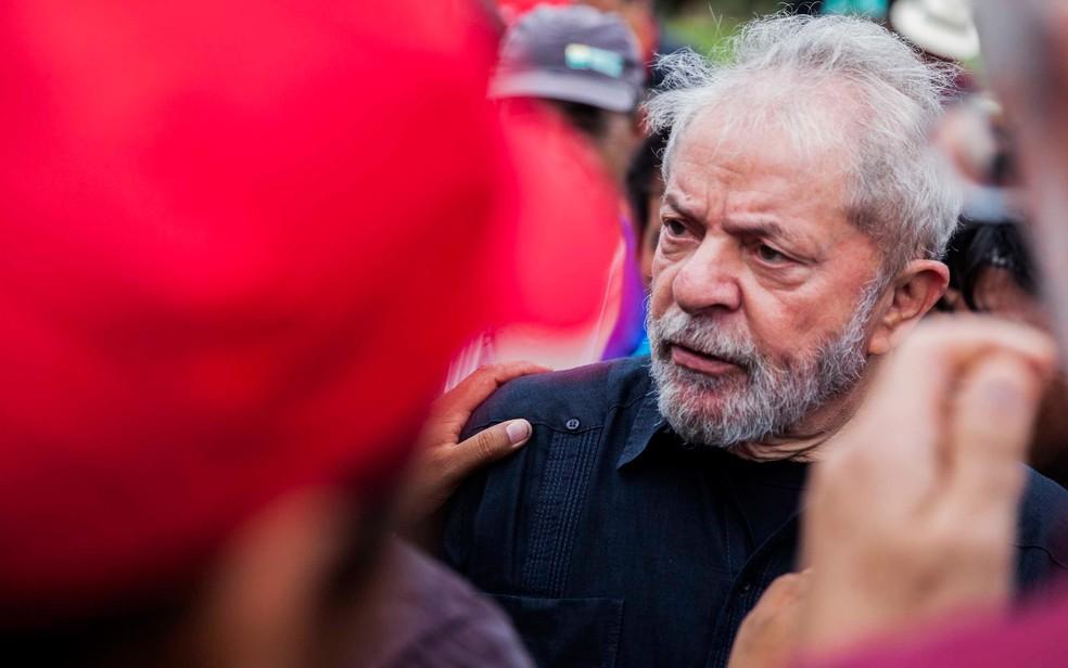 O ex-presidente Lula visita à cidade de São Miguel das Missões nesta quinta (22), durante caravana pelo interior do Rio Grande do Sul (Foto: Ricardo Marchetti/Agência F8/Estadão Conteúdo)
