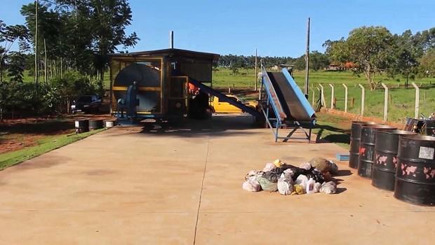 Planta de sistema de geração de biomassa da RSU Brasil (Foto: Divulgação)