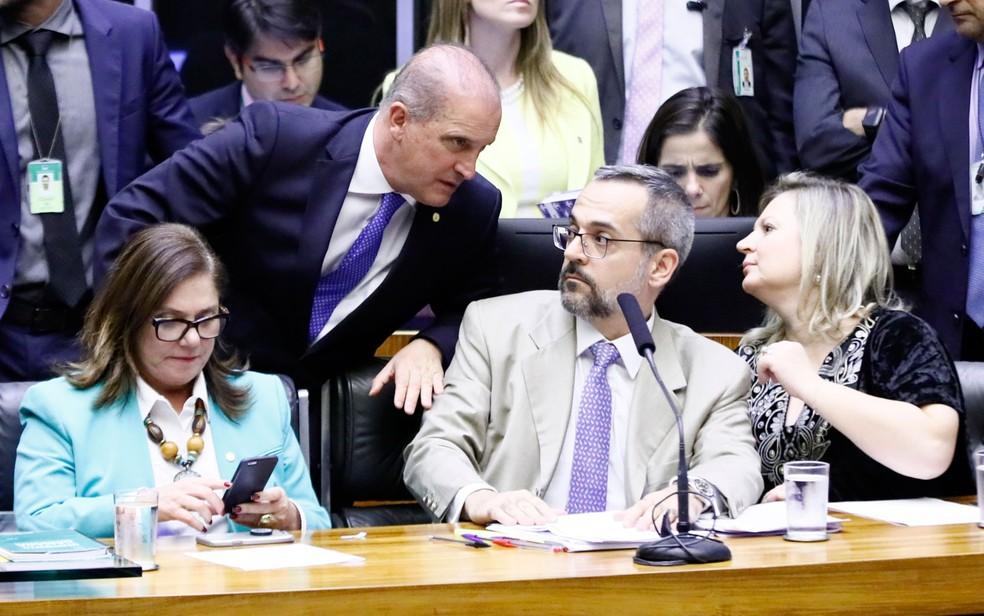 Abraham Weintraub durante sessão na Câmara, nesta quarta-feira (15) — Foto: Luis Macedo/Câmara dos Deputados
