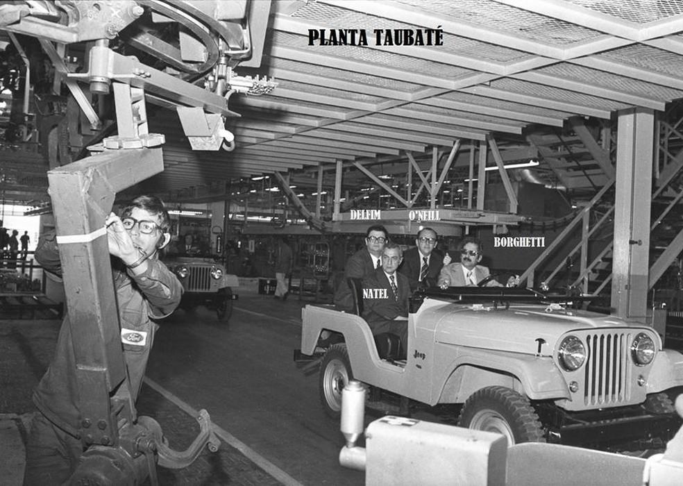 Inauguração da planta da Ford em Taubaté — Foto: Reprodução/Facebook - Página Resgatando Taubaté, Ontem, Hoje e Sempre