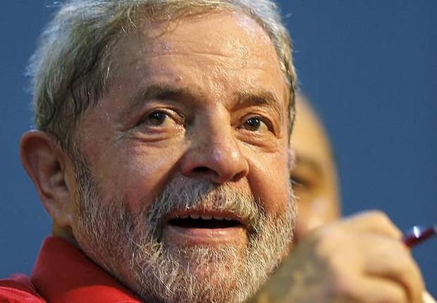 O ex-presidente Luiz Inácio Lula da Silva durante congresso do PT (Foto: Paulo Whitaker/Reuters)