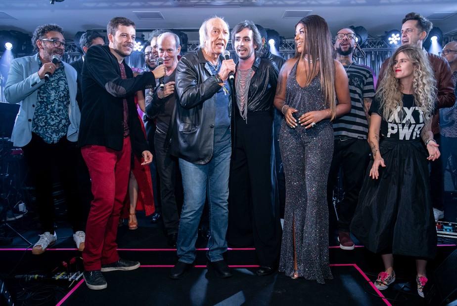 Erasmo Carlos tem obra celebrada por artistas como Ludmilla e Ney Matogrosso em premiação no Rio
