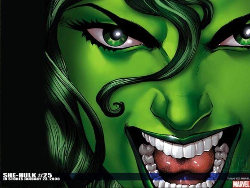 Papel De Parede Cartoon: Papel De Parede: Mulher-Hulk