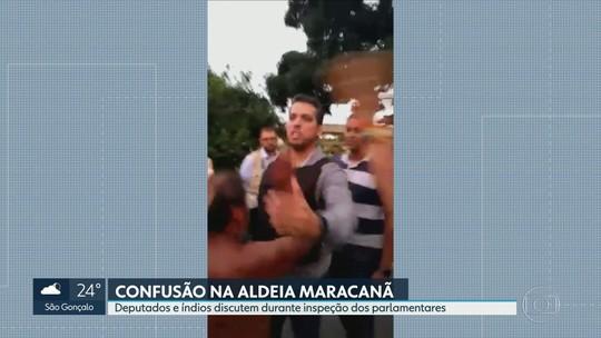 Vídeo mostra confusão e agressão de deputado na Aldeia Maracanã
