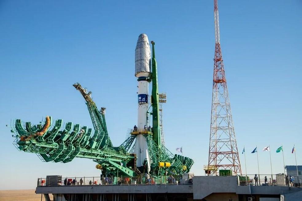 Foguete russo que levou nanossatélite até a órbita terrestre. — Foto: INPE/Divulgação