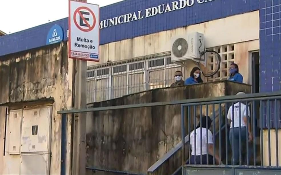 Escola Municipal Eduardo Campos em Águas Claras, em Salvador — Foto: Reprodução/TV Bahia