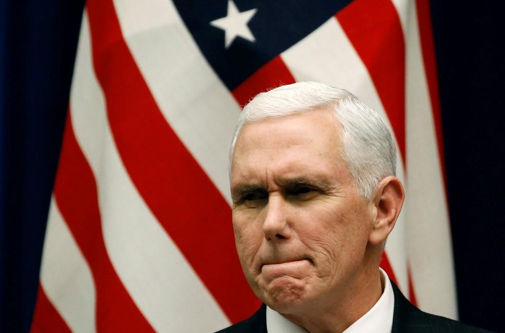 O vice-presidente dos Estados Unidos, Mike Pence (Foto: Toru Hana / Reuters)