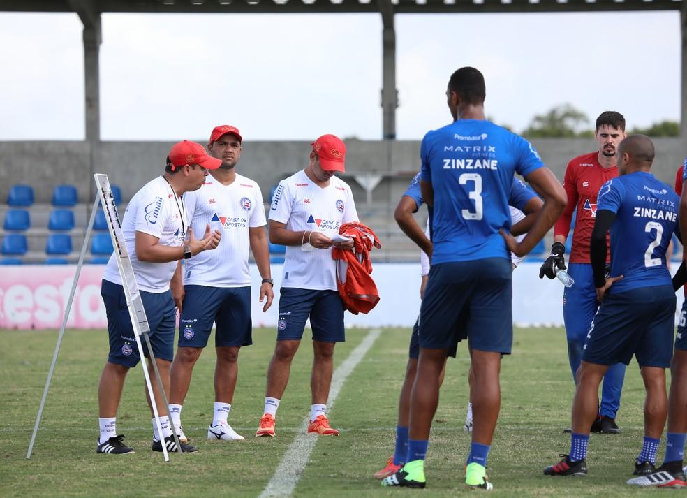 Dado Cavalcanti em treino do Bahia — Foto: Felipe Oliveira / EC Bahia / Divulgação