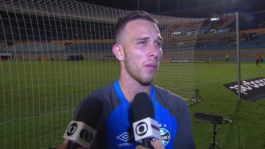 Arthur fala sobre o momento da sua carreira no Grêmio