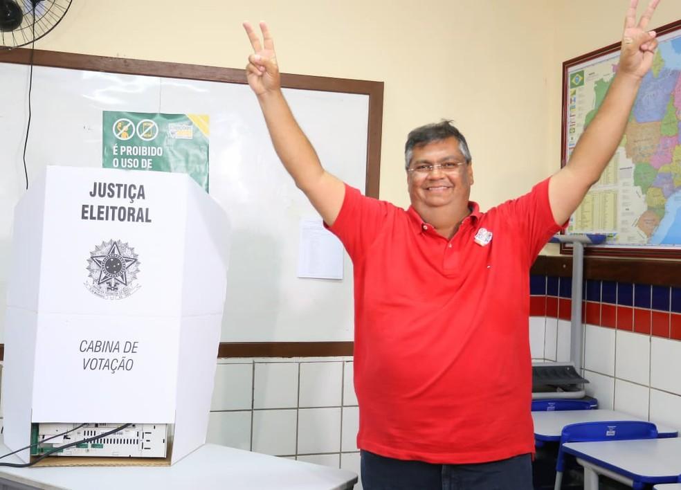 Flávio Dino foi reeleito governador do Maranhão no 1º turno das eleições — Foto: Divulgação