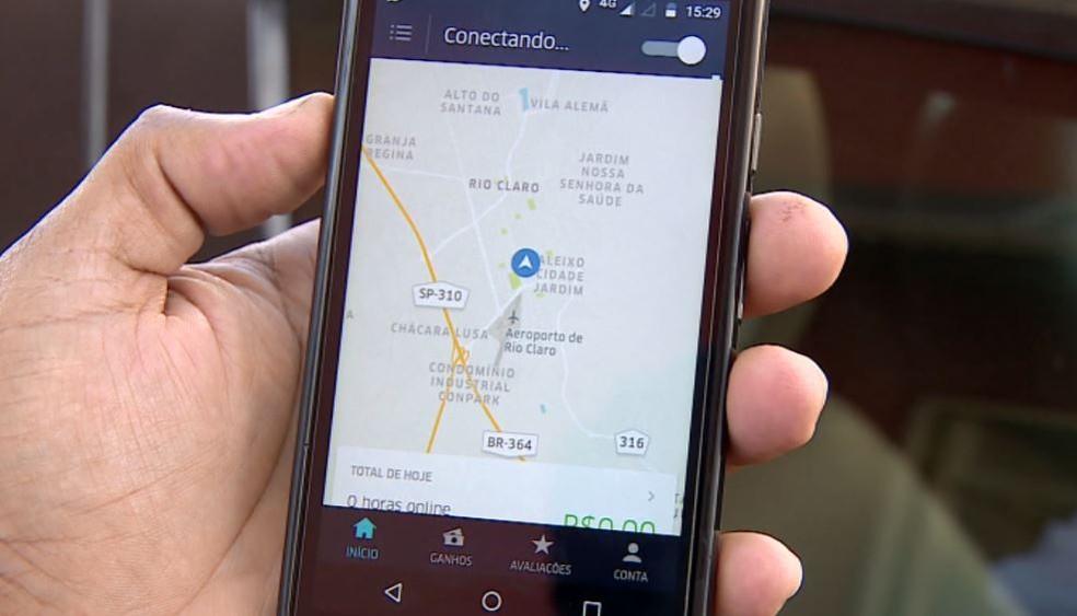 Aplicativo da Uber — Foto: Reprodução/EPTV