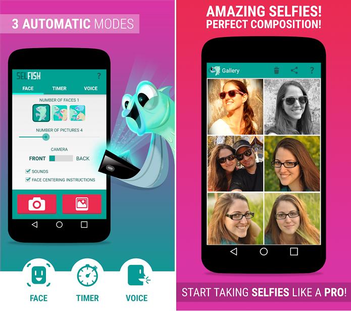 Selfish é um aplicativo divertido para fazer selfies (Foto: Divulgação)