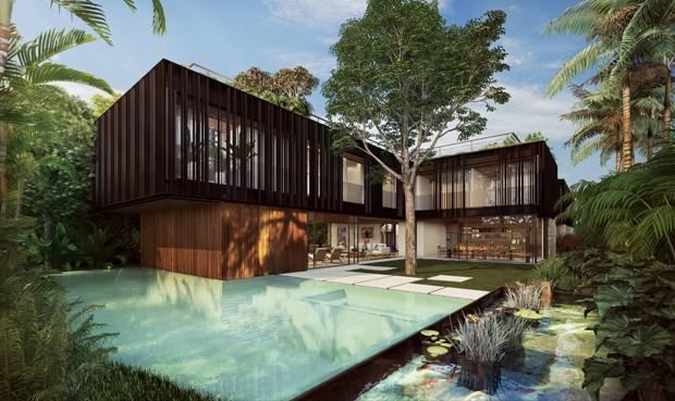 Condomínio de luxo em São Paulo tem casas a R$ 22 milhões  (Foto: Divulgação)